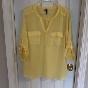 NWOT yellow blouse